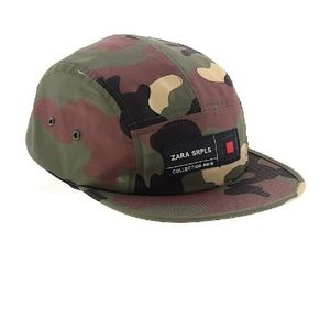 Zara SRPLS collection Camo snap back hat